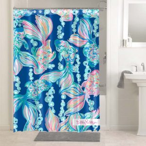 Lilly Pulitzer Going Coastal #4769 Shower Curtain Bathroom Decoration