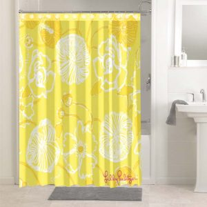 Lilly Pulitzer Yellow #4770 Bathroom Shower Curtain Decor
