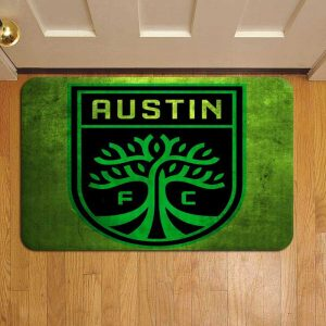 Austin FC MLS Soccer Rug Doormat Foot Door Mat Steps
