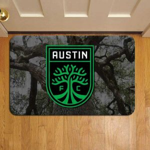 Austin FC MLS Soccer Doormat Foot Rug Door Mat Steps