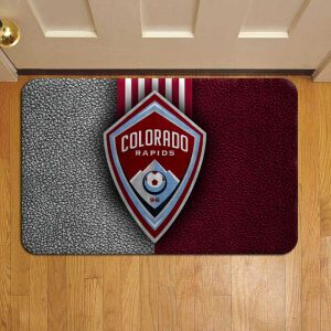 Colorado Rapids MLS Soccer Door Mat Foot Rug Doormat Steps