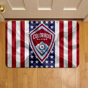 Colorado Rapids MLS Soccer Rug Doormat Foot Door Mat Steps