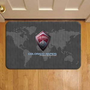 Colorado Rapids MLS Soccer Door Steps Foot Doormat Rug Mat