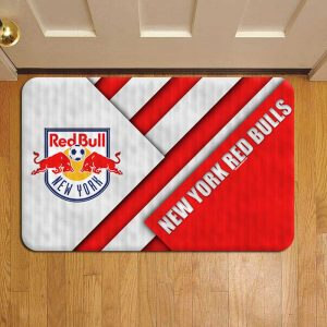 New York Red Bulls MLS Soccer Rug Doormat Foot Door Mat Steps