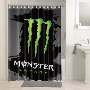 Monster Energy Shower Curtains Bathroom Decoration Waterproof Polyester Fabric.