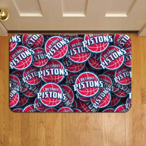 Detroit Pistons NBA Basketball Doormat Foot Rug Door Mat Steps