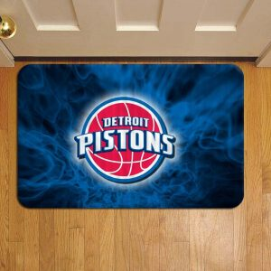 Detroit Pistons NBA Basketball Rug Doormat Foot Door Mat Steps