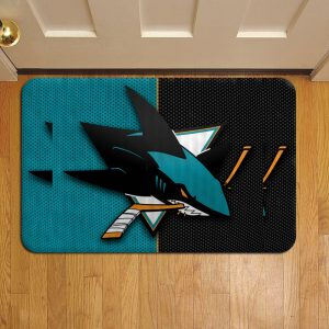 San Jose Sharks Rug Doormat Foot Door Mat Steps