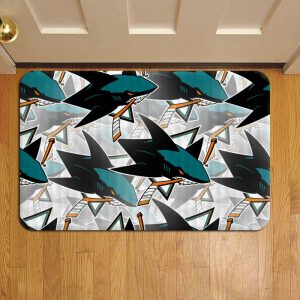 San Jose Sharks NHL Hockey Step Mat Doormat Foot Door Rug Mat