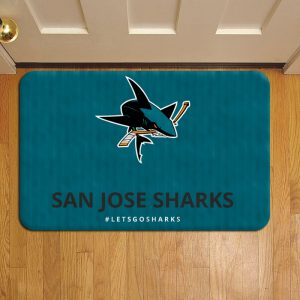 San Jose Sharks Step Mat Doormat Foot Door Rug Mat