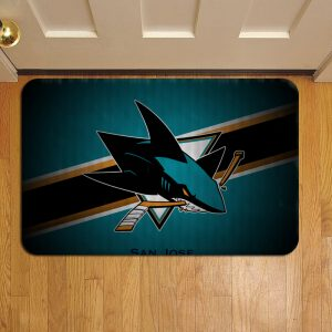 San Jose Sharks Doormat Foot Rug Door Mat Steps