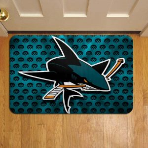 San Jose Sharks NHL Hockey Rug Doormat Foot Door Mat Steps
