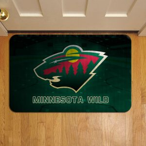 Minnesota Wild Doormat Foot Rug Door Mat Steps