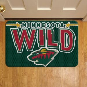Minnesota Wild Foot Mat Doormat Rug Door Steps