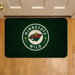 Minnesota Wild NHL Hockey Doormat Foot Rug Door Mat Steps
