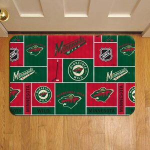 Minnesota Wild NHL Hockey Rug Doormat Foot Door Mat Steps