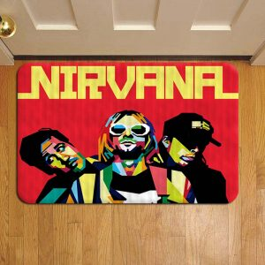 Nirvana Rock Band Rug Doormat Foot Door Mat Steps