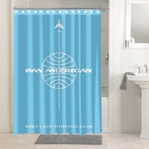 Pan Am Airlines #4844 Shower Curtain Bathroom Decoration