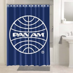 Pan Am Airlines #4846 Bathroom Curtain Shower Decoration