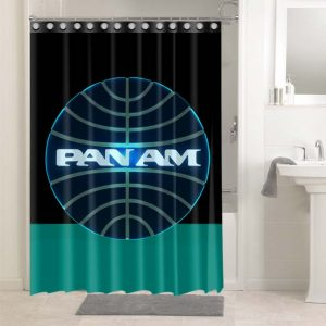 Pan Am Shower Curtains Bathroom Decoration Waterproof Polyester Fabric.