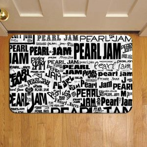 Pearl Jam Rock Band Door Mat Foot Rug Doormat Steps