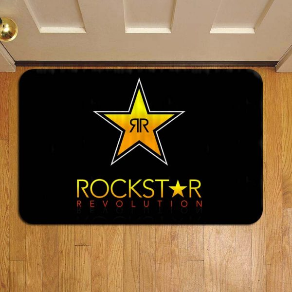 Rockstar Energy Drink Logo Step Mat Doormat Foot Door Rug
