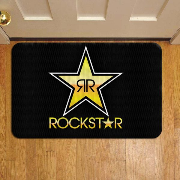 Rockstar Energy Drink Logo Door Mat Foot Rug Doormat Steps