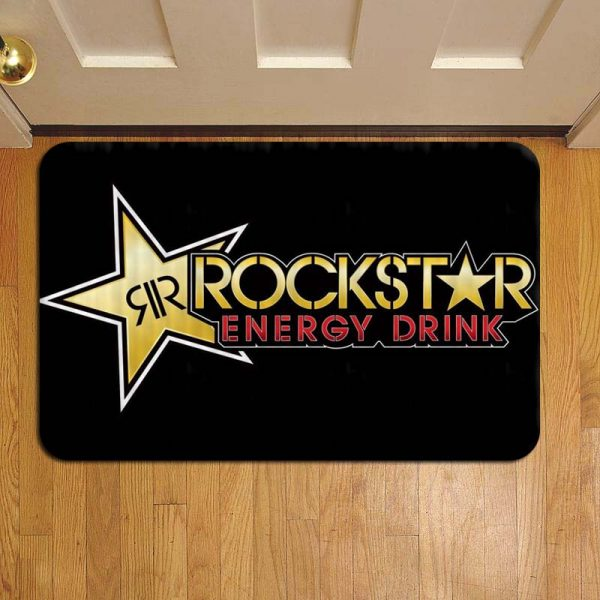 Rockstar Energy Drink Doormat Foot Rug Door Mat Steps
