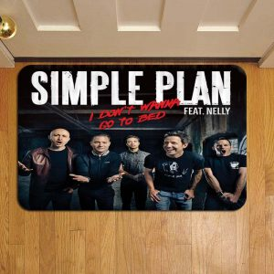 Simple Plan Rock Band Foot Mat Doormat Rug Door Steps