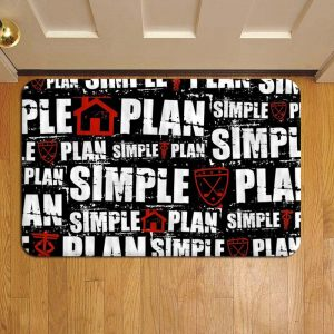 Simple Plan Rug Doormat Foot Door Mat Steps