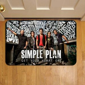 Simple Plan Band Door Steps Foot Doormat Rug Mat
