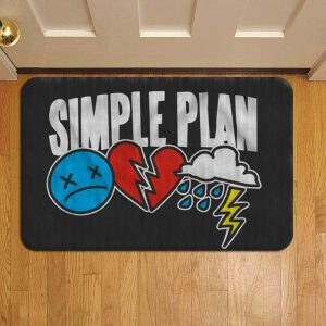 Simple Plan Rock Band Step Mat Doormat Foot Door Rug Mat