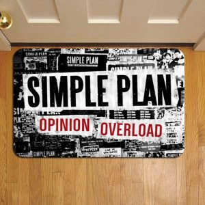 Simple Plan Rock Band Doormat Foot Rug Door Mat Steps