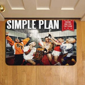 Simple Plan Rock Band Door Mat Foot Rug Doormat Steps