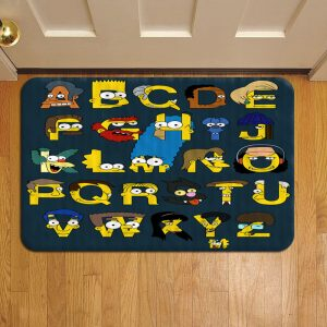 The Simpsons Door Mat Foot Rug Doormat Steps