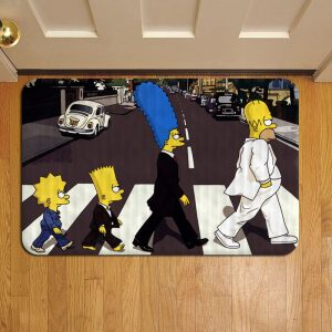 The Simpsons Door Steps Foot Doormat Rug Mat