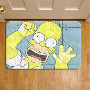 The Simpsons Cartoon Door Mat Foot Rug Doormat Steps