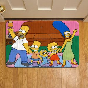 The Simpsons Cartoon Rug Doormat Foot Door Mat Steps
