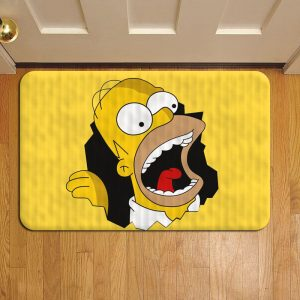 The Simpsons Cartoon Door Steps Foot Doormat Rug Mat