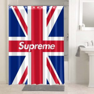Supreme Britain Flag #4916 Bathroom Curtain Shower Decoration