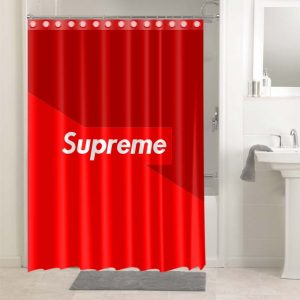 Supreme Logo #4917 Waterproof Shower Curtain Bathroom Decoration