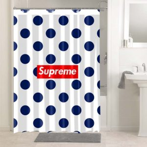 Supreme Polkadots #4907 Waterproof Shower Curtain Bathroom Decoration