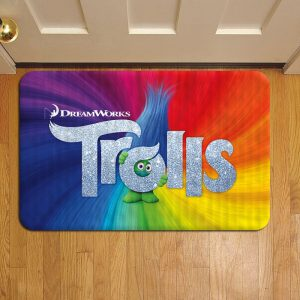 Trolls Rug Doormat Foot Door Mat Steps