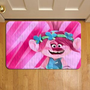 Trolls Cartoon Rug Doormat Foot Door Mat Steps