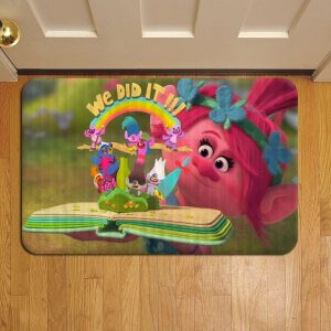 Trolls Cartoon Foot Mat Doormat Rug Door Steps