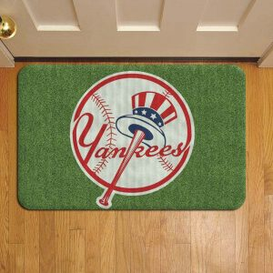 New York Yankees Baseball Doormat Foot Rug Door Mat Steps