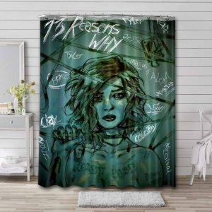 13 Reasons Why TV Series Shower Curtain Waterproof Polyester