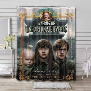 A Series of Unfortunate Events Shower Curtain Bathroom Decoration