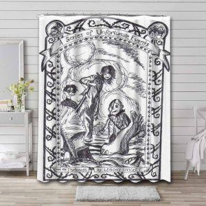 A Series of Unfortunate Events TV Series Shower Curtain Waterproof Polyester