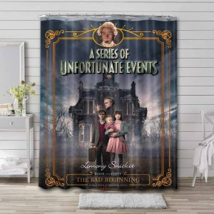A Series of Unfortunate Events Shower Curtain Waterproof Polyester
